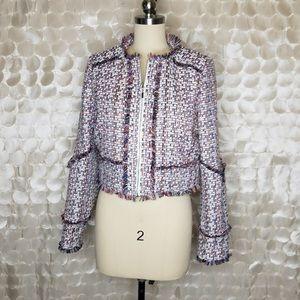 CAROLINA BELLE | Fringe Tweed crop jacket